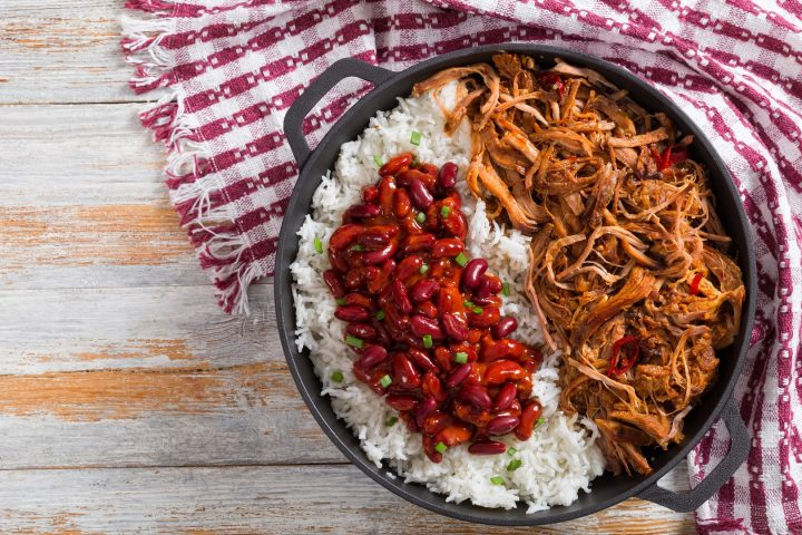 Chili con carne effiloché de boeuf
