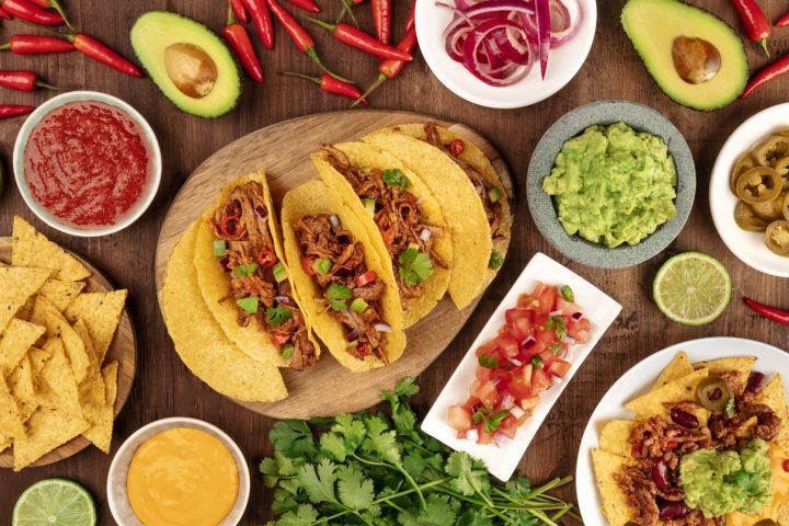Tacos effiloché de boeuf